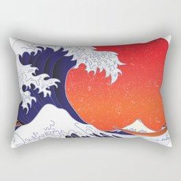 Kanagawa Japanese The great wave Retr Vintage distressed Essential Rectangular Pillow