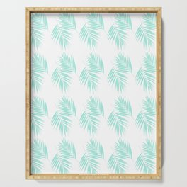 Palm Leaves Pattern #1 #Mint #decor #art #society6 Serving Tray