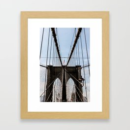 Brooklyn Born and Raised Framed Art Print