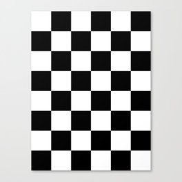 Large Checkered - White and Black Canvas Print