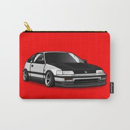 Honda CRX on Red Carry-All Pouch