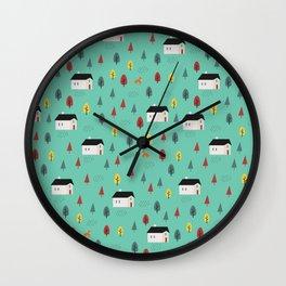 Countryside Pattern Wall Clock