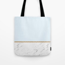 Duck egg blue marble Tote Bag