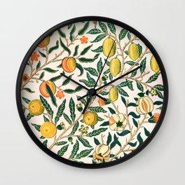 Lemon tree pattern vintage William Morris print Wall Clock
