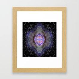Cosmic Collision Framed Art Print