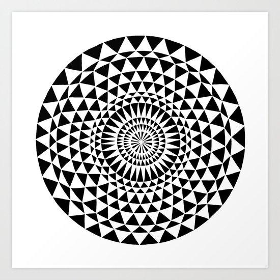 Sun in B&W Art Print