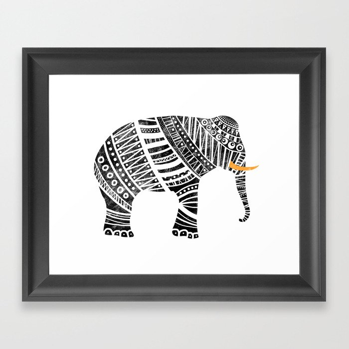 Endangered elephant Framed Art Print