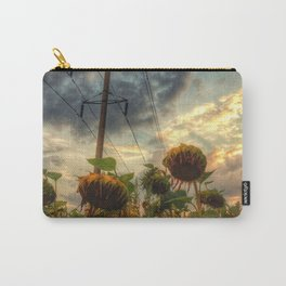 field of faded sunflowers  Carry-All Pouch