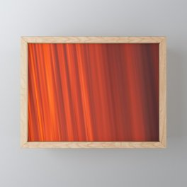 Red & Orange Sunset Stripes Framed Mini Art Print