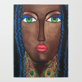 Beautiful Black Woman Poster