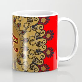The all seeing eye in gold and black Coffee Mug