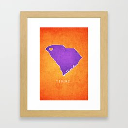 Clemson Tigers Framed Art Print
