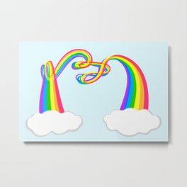 Spaghetti Rainbow Metal Print