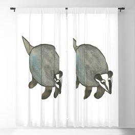 Watercolor Badger Blackout Curtain