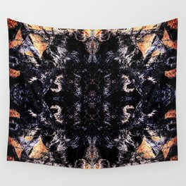 Flame kaleidoscope Wall Tapestry