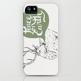Christmas Carol Elk iPhone Case