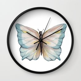 Butterfly watercolor Wall Clock