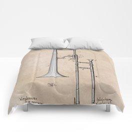 patent Hankey Slide Trombone 1902 Comforters