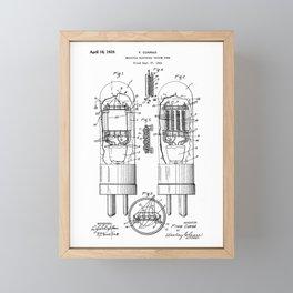 Multiple Electrode Vacuum Tube Vintage Patent Hand Drawing Framed Mini Art Print