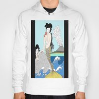 mermaids Hoodies featuring Japanese Mermaids by Paul Bridgeman