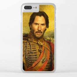 Keanu Reeves - replaceface Clear iPhone Case