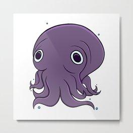 Stubby Squid! Metal Print