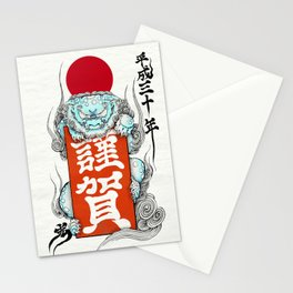 Japanese lion,KOMAINU Stationery Cards