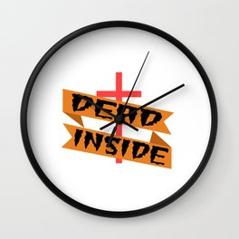 """A Nice Inside Theme Tee For You Who Loves Being Inside Saying """"Dead Inside"""" T-shirt Design Coffin Wall Clock"""