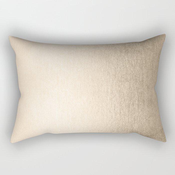 White Gold Sands Rectangular Pillow