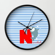 n for narwhal Wall Clock
