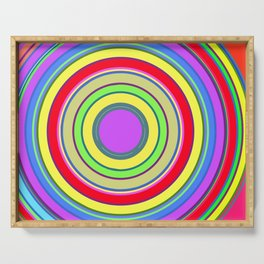 Circle Stripes Art / GFTCircle001 Serving Tray