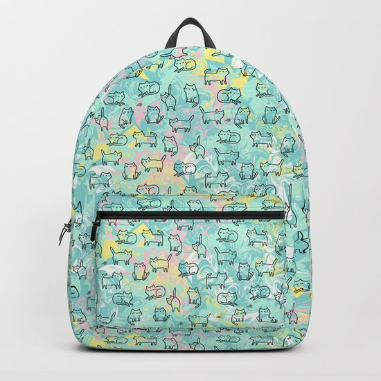 Marble Kitty Cats Backpack