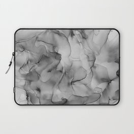 Black and White Marble Ink Abstract Painting Laptop Sleeve
