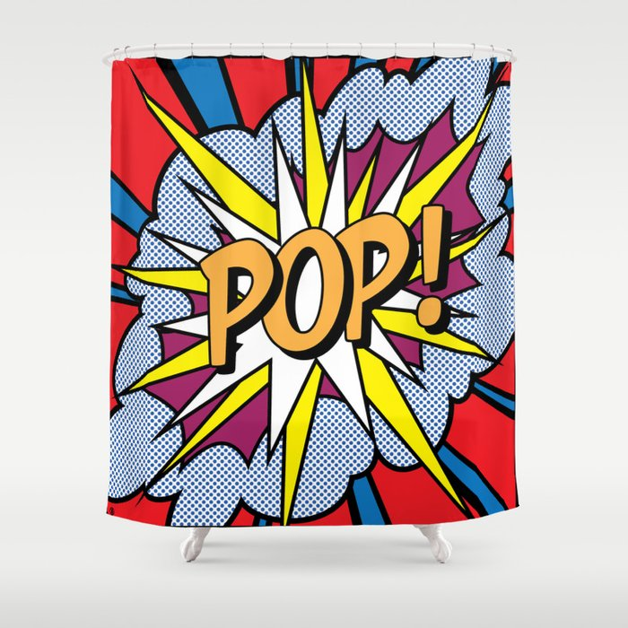 POP Art Exclamation Shower Curtain By Redssr03