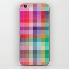 Bright Plaid iPhone & iPod Skin