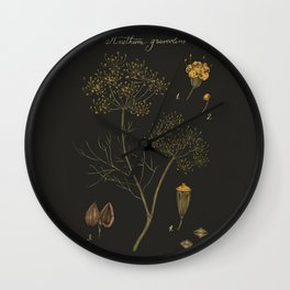 Dill (Dark Background) Wall Clock