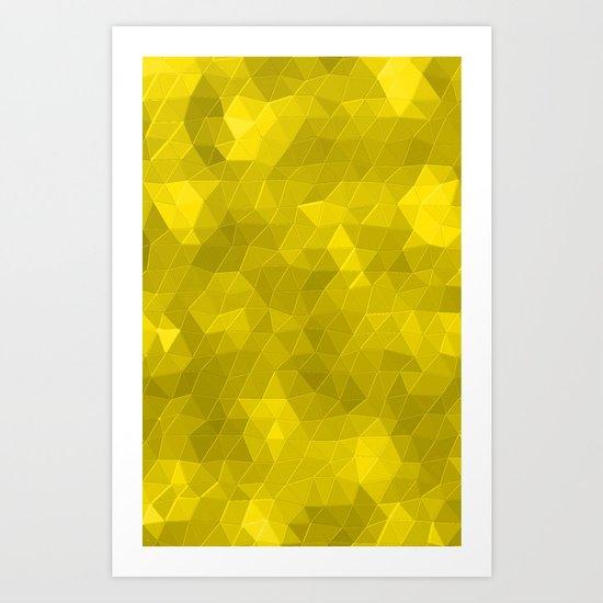 Kaleidoscope Series Yellow Art Print