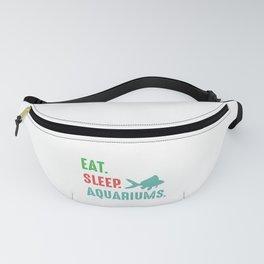 Eat Sleep Aquariums Aquarist Fish Marine Gift Fanny Pack