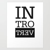 introvert Art Prints featuring Introvert by Introvertology