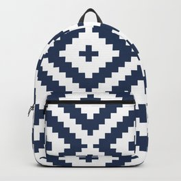 Kilim Target in Navy Backpack