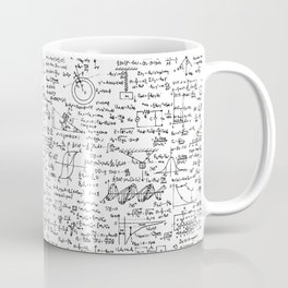 Physics Equations on Whiteboard Coffee Mug