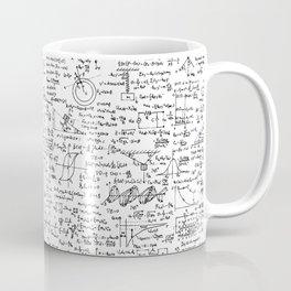 Physics Equations on Whiteboard Kaffeebecher