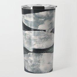 Whales Black and Grey Travel Mug
