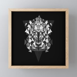 Black and White Tutankhamun - Pharaoh's Mask Framed Mini Art Print
