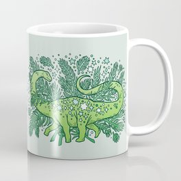 Winter Solstice Sauropod | Evergreens Palette Coffee Mug