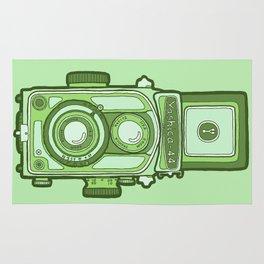 Vintage camera green Rug