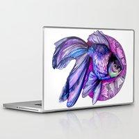 goldfish Laptop & iPad Skins featuring Goldfish by Slaveika Aladjova