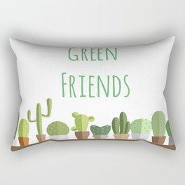 Cactuses poster: Green friends Rectangular Pillow