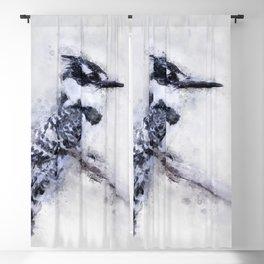 Pied Kingfisher Bird Print Watercolour A4, Animal Poster Print, Birds Digital Prints, Poster Print, Blackout Curtain