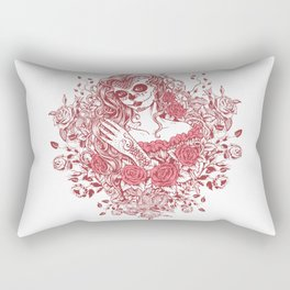 Sexy Woman zombie WITH Flower - Light Coral Rectangular Pillow